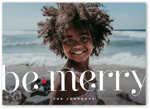 Be Merry Holiday cards from Shutterfly: