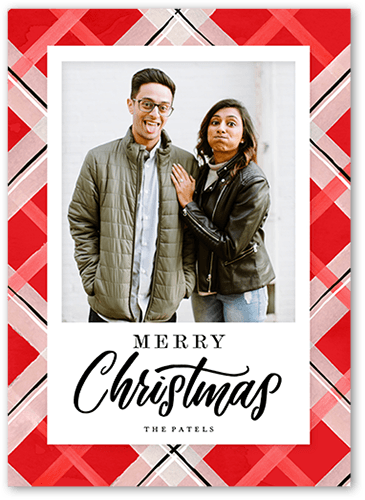 Classic Red plaid Christmas Card from Shutterfly: Holiday Cards