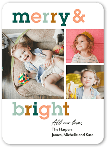 Merry and bright Christmas Card: Holiday Cards