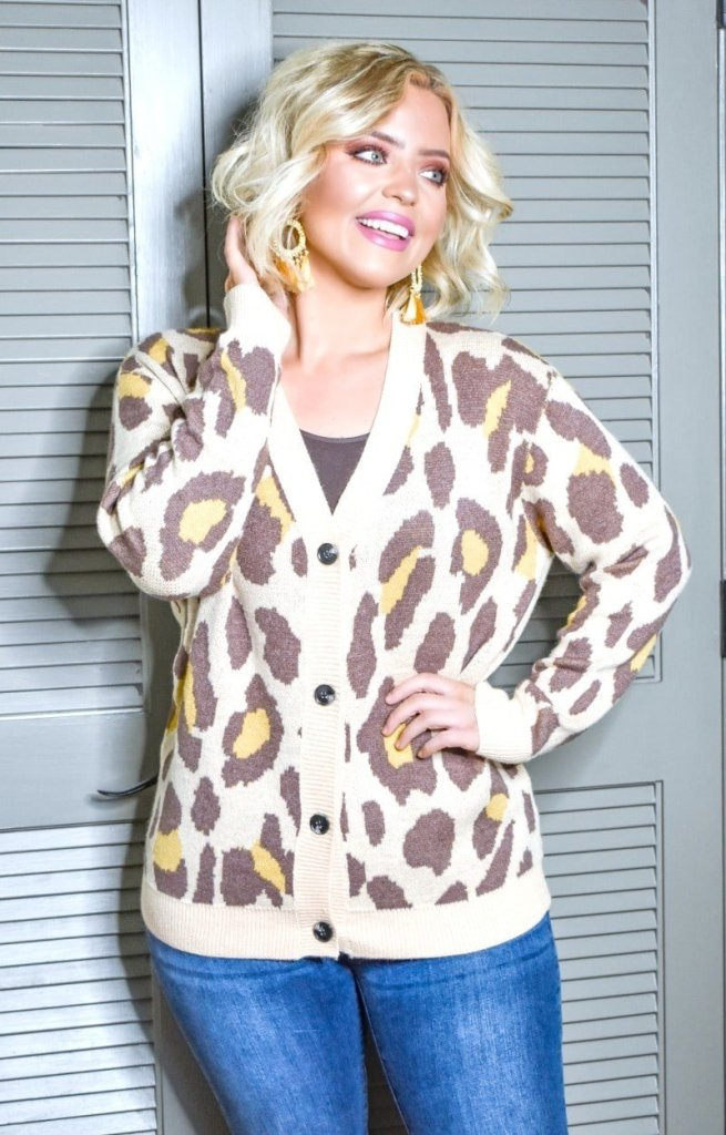 Over the Top Leopard Cardigan - 5 Cardigans you need for winter