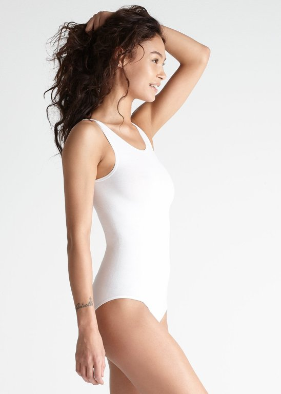 Yummie White full back body suit -Capsule Wardrobe essentials