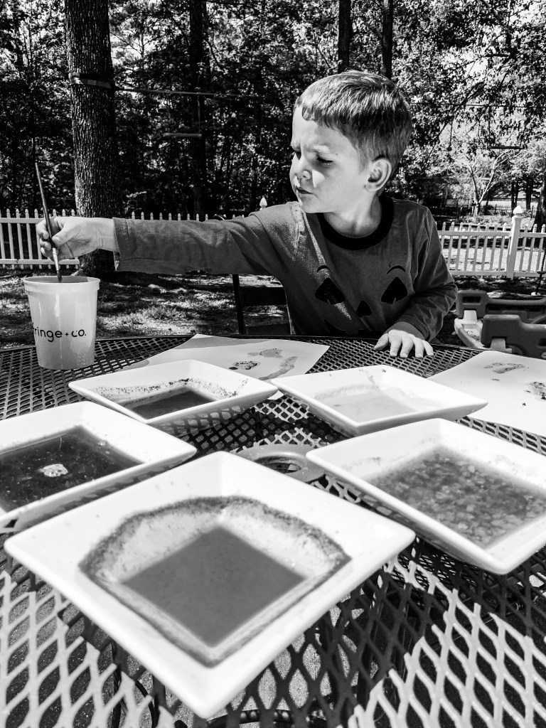 Painting outside with fruits and spices.  Pivoting with a purpose.