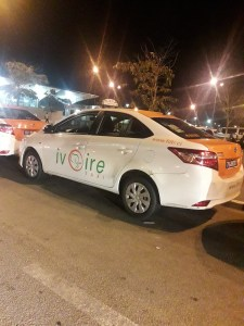 La nuit à Abidjan en taxi