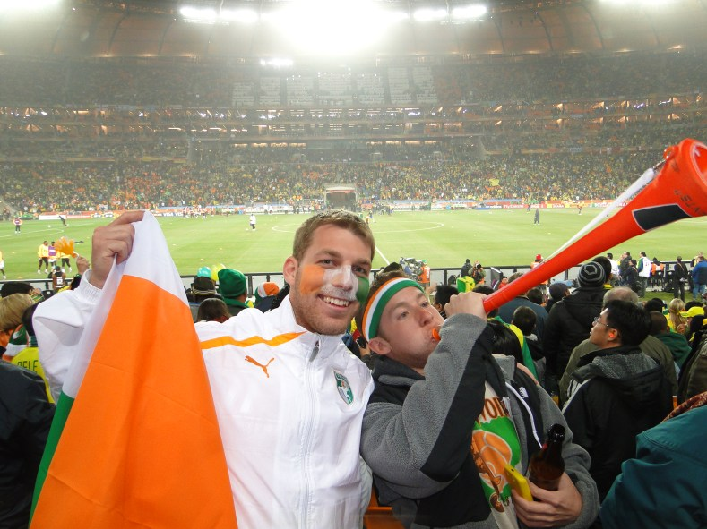 We Global supporting Les Elephants at Soccer City vs Brazil during South Africa 2010.