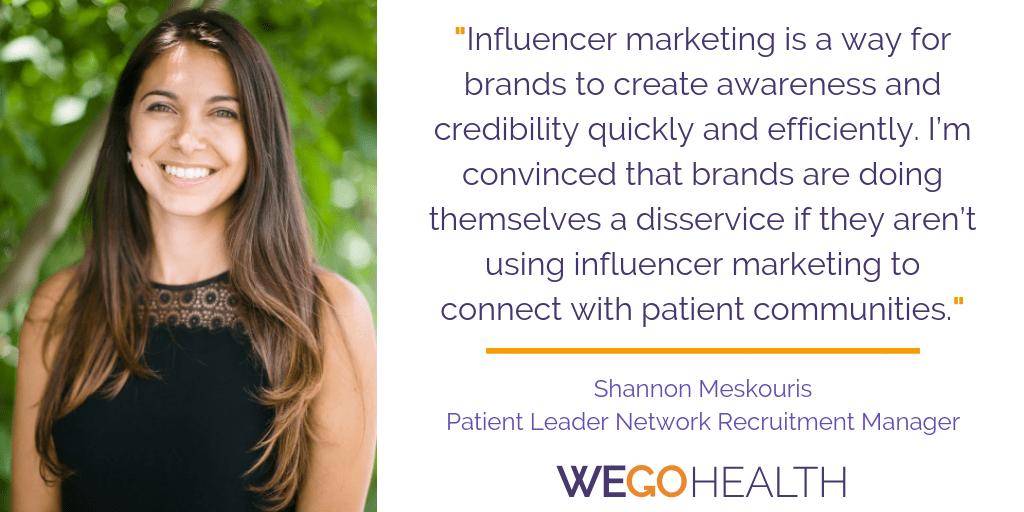 Shannon Meskouris, WEGO Health Patient Leader Network Recruitment Manager and Influencer Marketing Expert