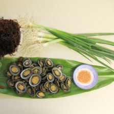 Ingredients for opihi poke