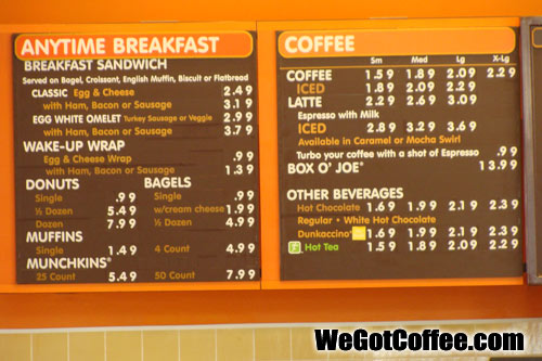 Anytime Breakfast Menu with Prices  Dunkin Donuts  Menu