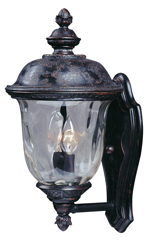 Maxim Two Light Oriental Bronze Water Glass Glass Wall
