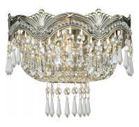 Crystorama Historic Brass / Hand Polished Majestic 2 Light ...