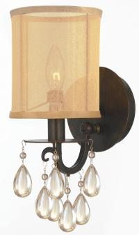 Crystorama Antique Brass Hampton 1 Light Candle Style Wall ...