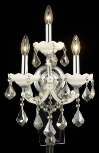 Elegant Lighting Wall Sconce White 2800W3WH-GT/RC From ...