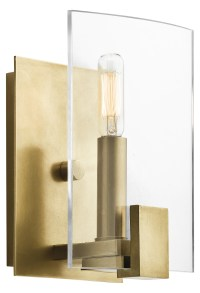 Kichler Wall Sconce 1Lt Natural Brass 45701NBR From
