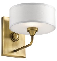 Kichler Wall Sconce 1Lt Natural Brass 43843NBR From ...