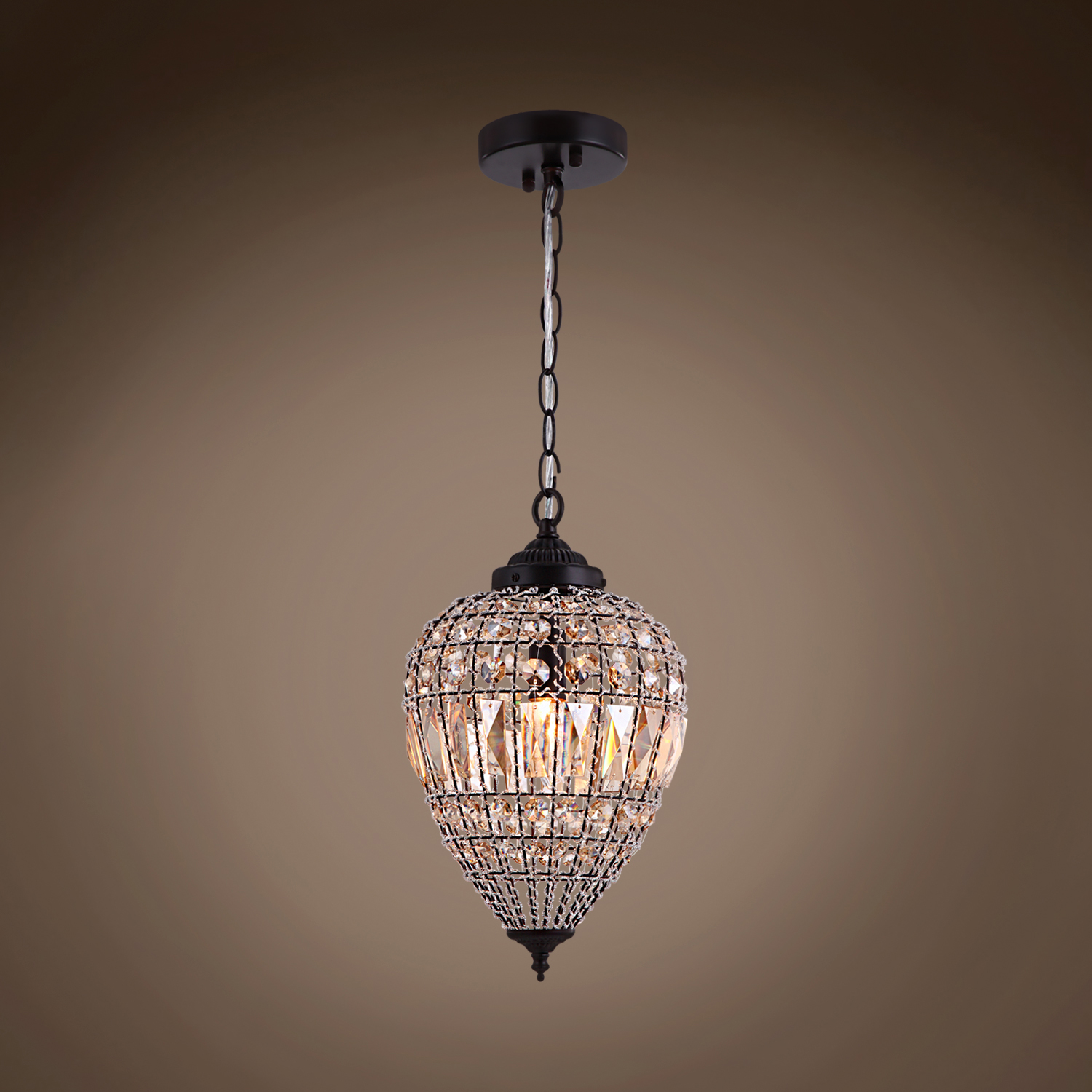Joshua Marshal Limited Edition 1 Light 9 Beaded Amber