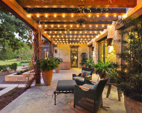 creative outdoor lighting using