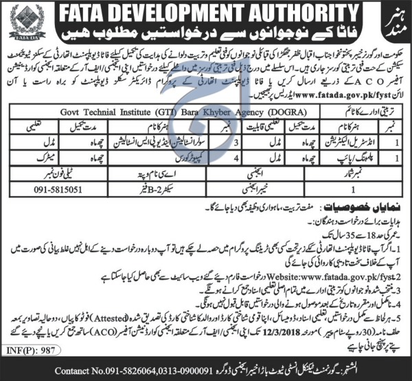 Government Technical Institute (GIT) Khyber Agency