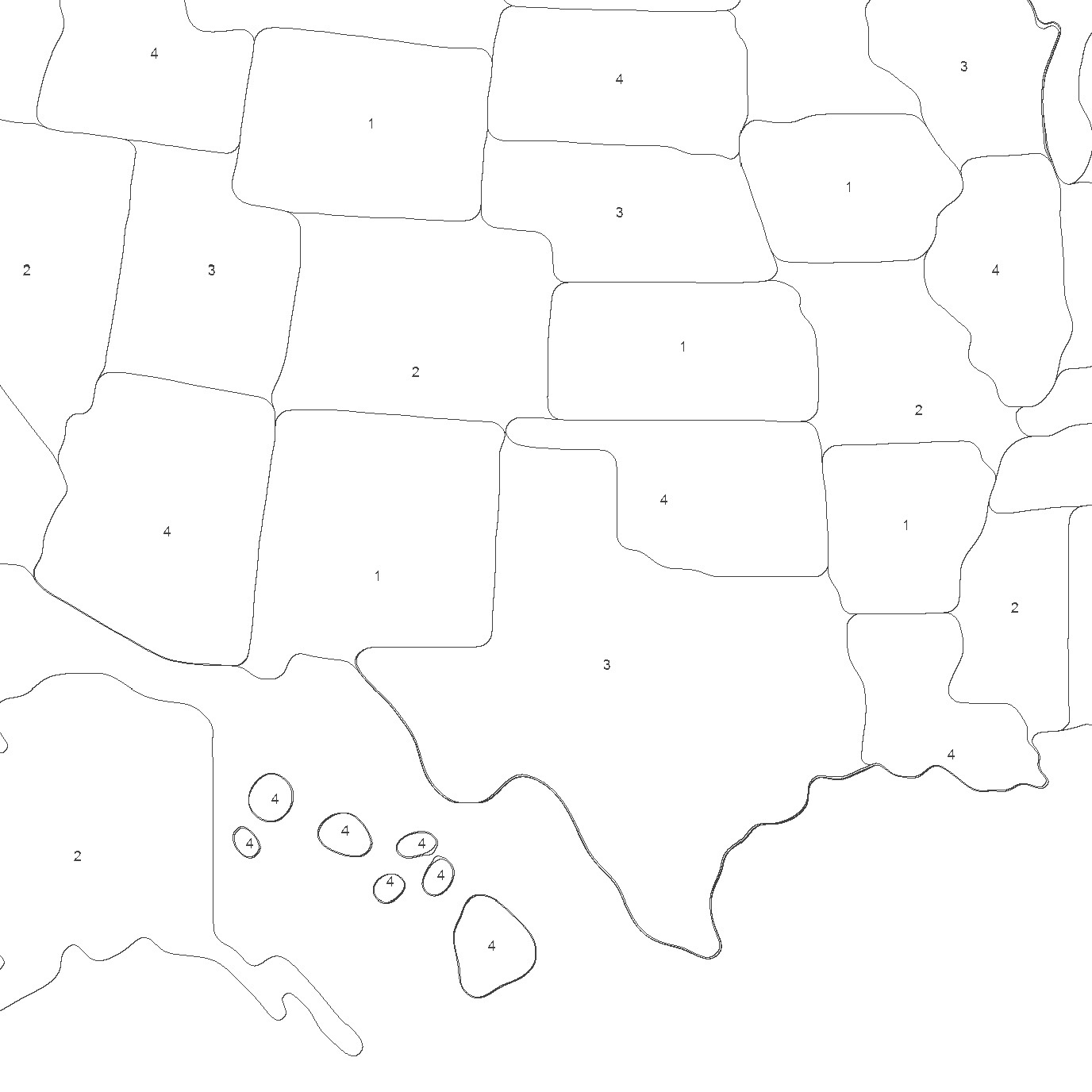 United States Map Paint by Number Kit