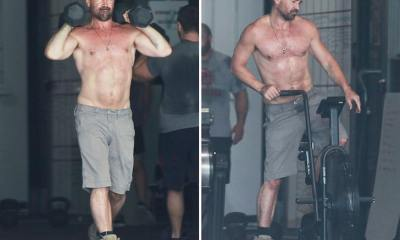 Colin Farrell's Shirtless Workout in Dad Shorts