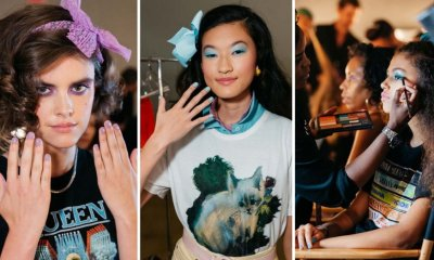 Backstage Beauty Looks at the Rodarte '80s Fashion Show in Los Angeles