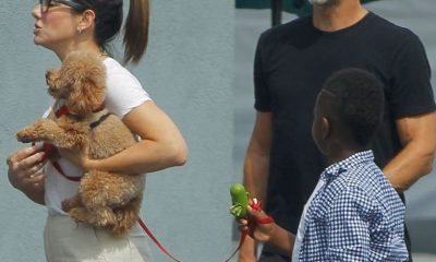 Sandra & Boyfriend Bryan Spotted On Rare Family Outing With Bullock's Son Louis