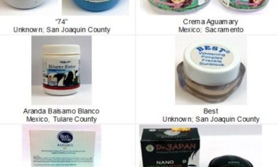Woman charged in LA with illegally importing mercury-laden skin creams