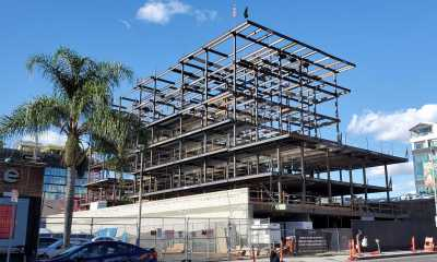 Steel Frame Takes Shape at 64-Room Hyatt Hotel in Hollywood