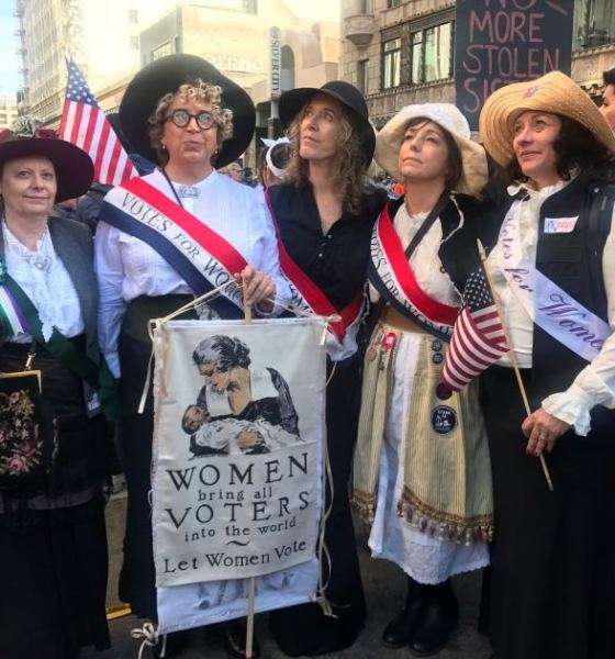 Thousands Turned Out for Women's March in Downtown LA