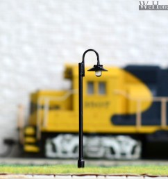 5 x ho or oo scale model lamppost led made street light metal cold dwarf ho track wiring light [ 1200 x 1200 Pixel ]