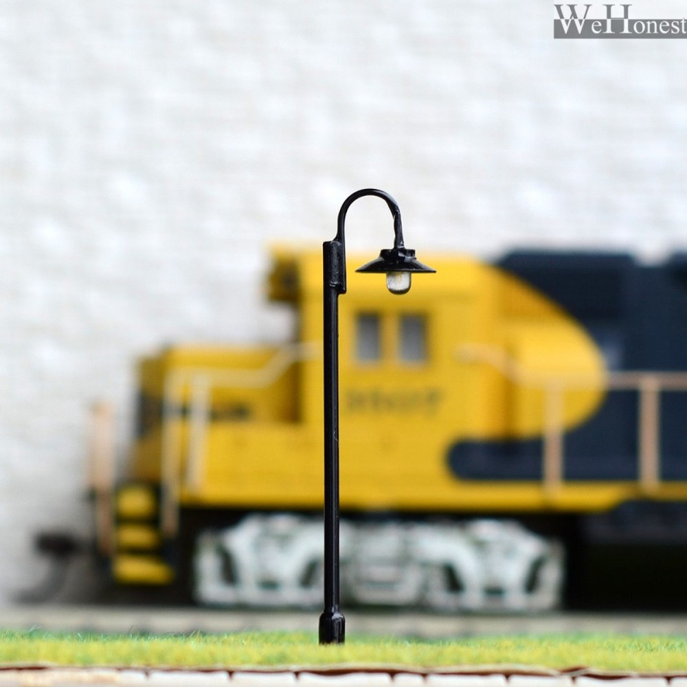 medium resolution of 5 x ho or oo scale model lamppost led made street light metal cold dwarf ho track wiring light