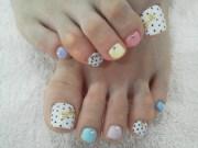 manicure & pedicure nail art design