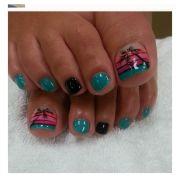 trendy nail art manicure design