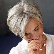 trendy gray hair styles