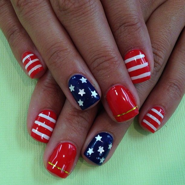 White Nail Design Ideas For Art Designs Blue Get Patriotic Red