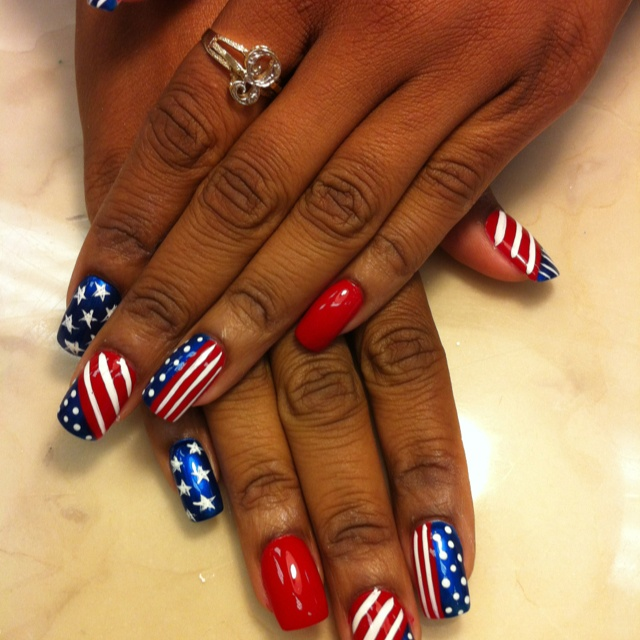 Red White And Blue Nail Polish Ideas