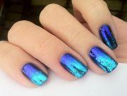blue nail polish manicure design