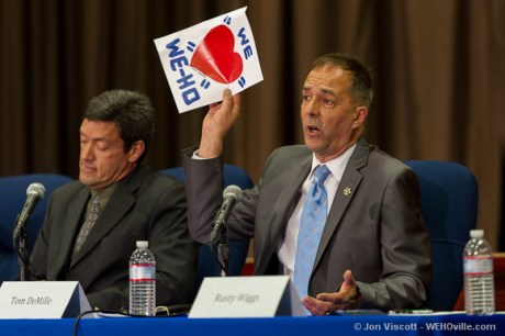 Tom DeMille at the council debate