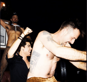 David Arquette and Adam Lambert