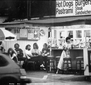 Linda Ronstadt at Irv's Burgers.