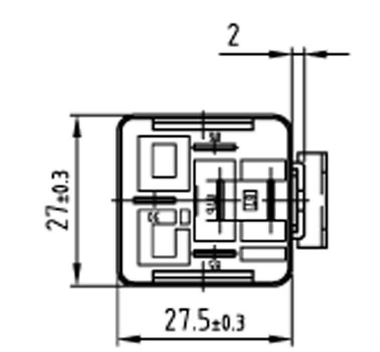 Double Contact Relay N.O. 24V