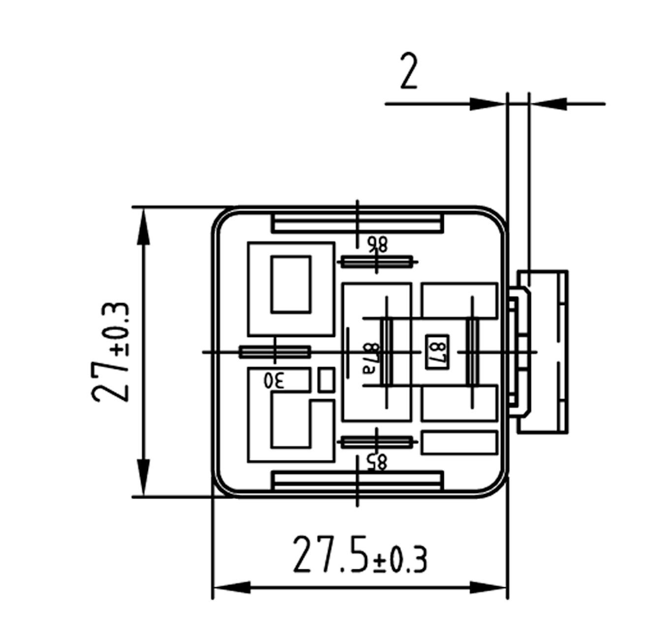 Relay C.O. 12V 20/30A