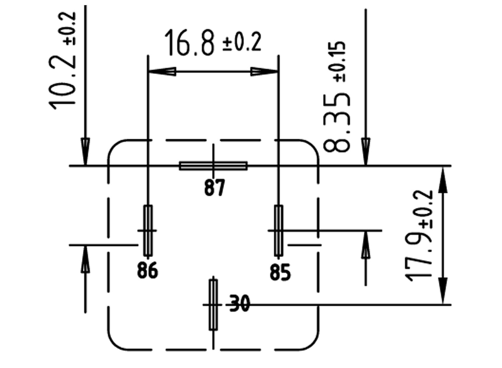 Twin relay N.O. 12V