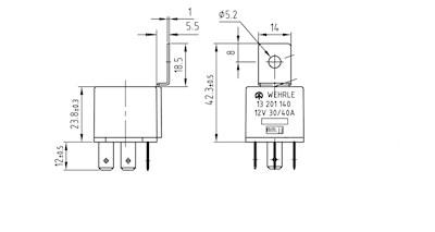 H-Relais Wechsler 12V / 30-40A mit Wider