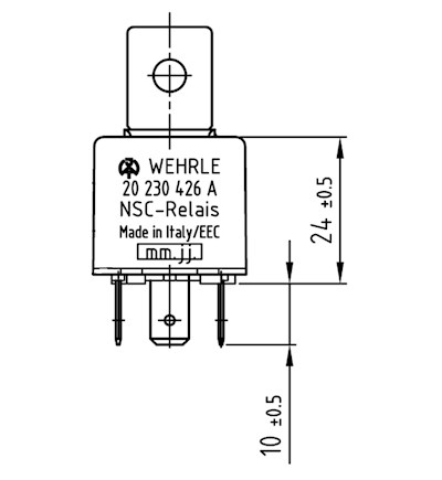 Swith-off Relay 12V