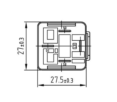 Mini-Relay N.O. 12V 30A
