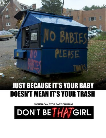 Just because it's you baby doesn't mean it's your trash. Don't be that girl.