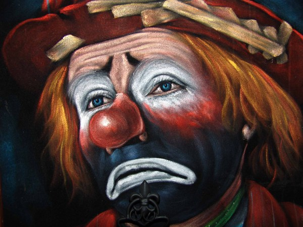 Just like Pagliacci did, I try to keep my sadness hid