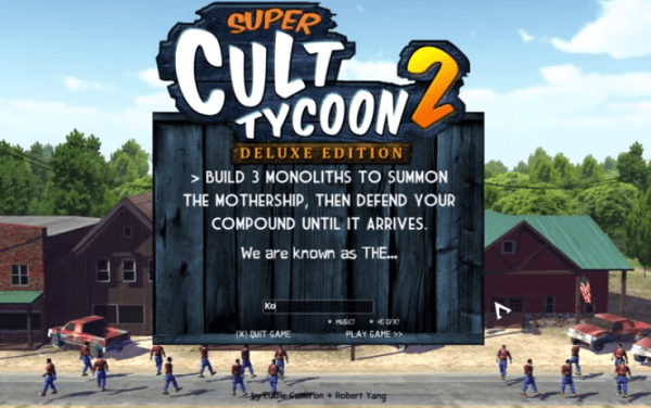 ProTip: If you're ever tempted to start a cult, play this video game instead, and leave real people alone.