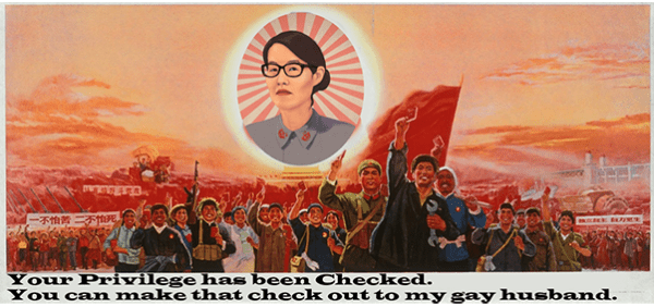 An anti-Pao graphic, repurposing Chinest Communist propagada