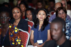 Actual women at actual international development conference in Addis Ababa