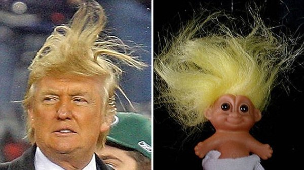 The similarity goes beyond the hair